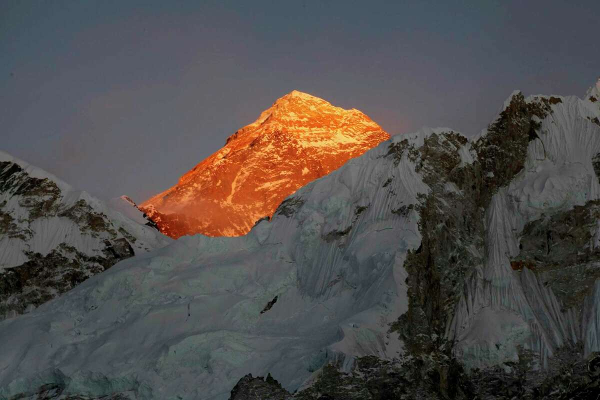 A file photo of Mount Everest in Nepal. A Swiss climber and a Connecticut resident died on Mount Everest this week, expedition organizers said Thursday.
