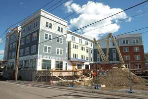 The Winward Apartments construction site in Bridgeport, Conn. May 12, 2021.
