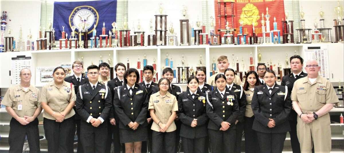 Plainview NJROTC earned a Distinguished Unit recognition.