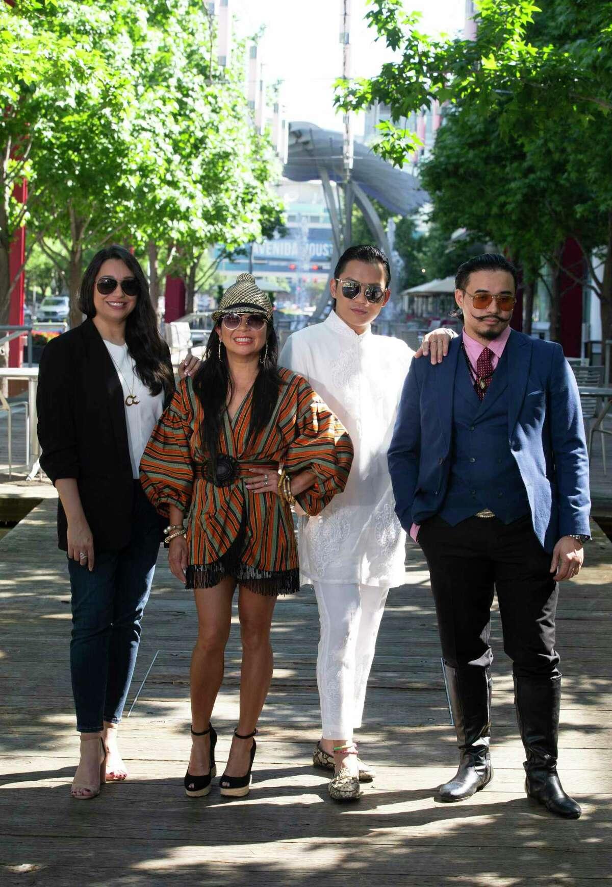 Designers Sameera Faridi, from left, Tina Zulu, Danny Nguyen and Nicholas Phan Nguyen
