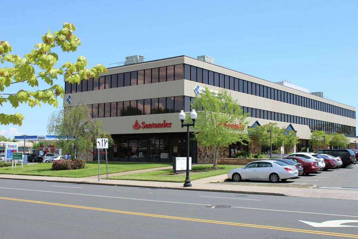 A Santander Bank branch in West Hartford, Conn. The bank is closing branches in Plainville, Farmington, East Windsor and Waterbury on August 6.