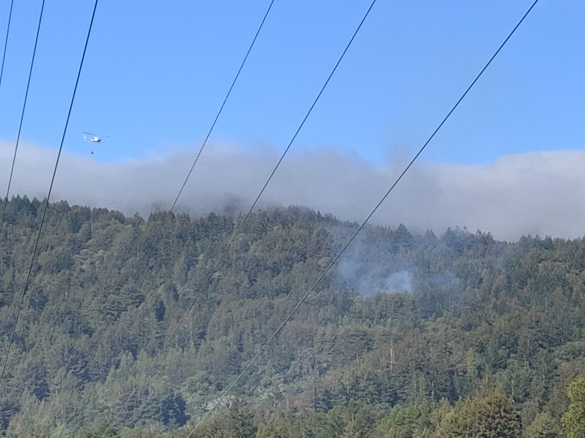 Grass fire now under control in San Mateo County, Cal Fire at scene