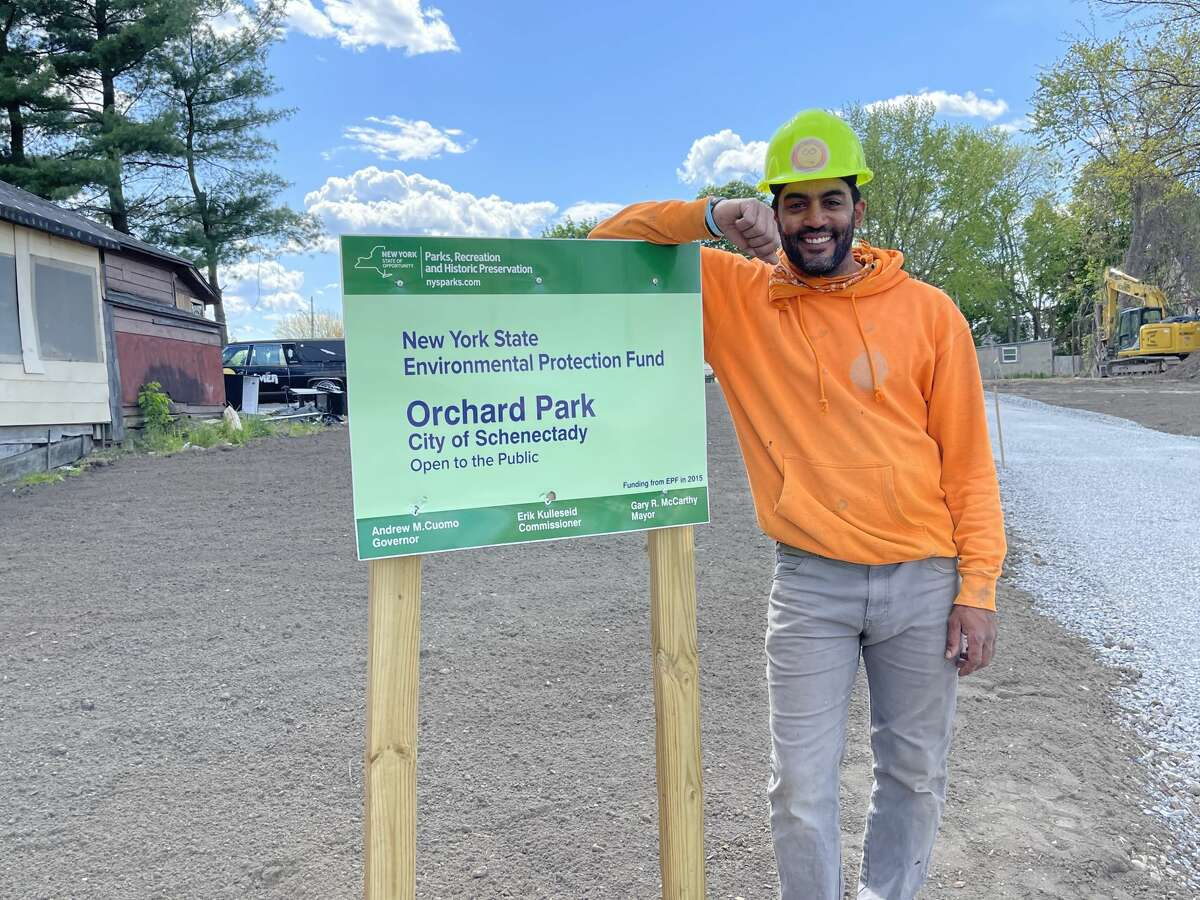 Contractor Michael DeOrio, owner of Happy Electric, said receiving the contract for the electrical work for improvements at Schenectady's Orchard Park marks a major milestone for his minority-owned business.