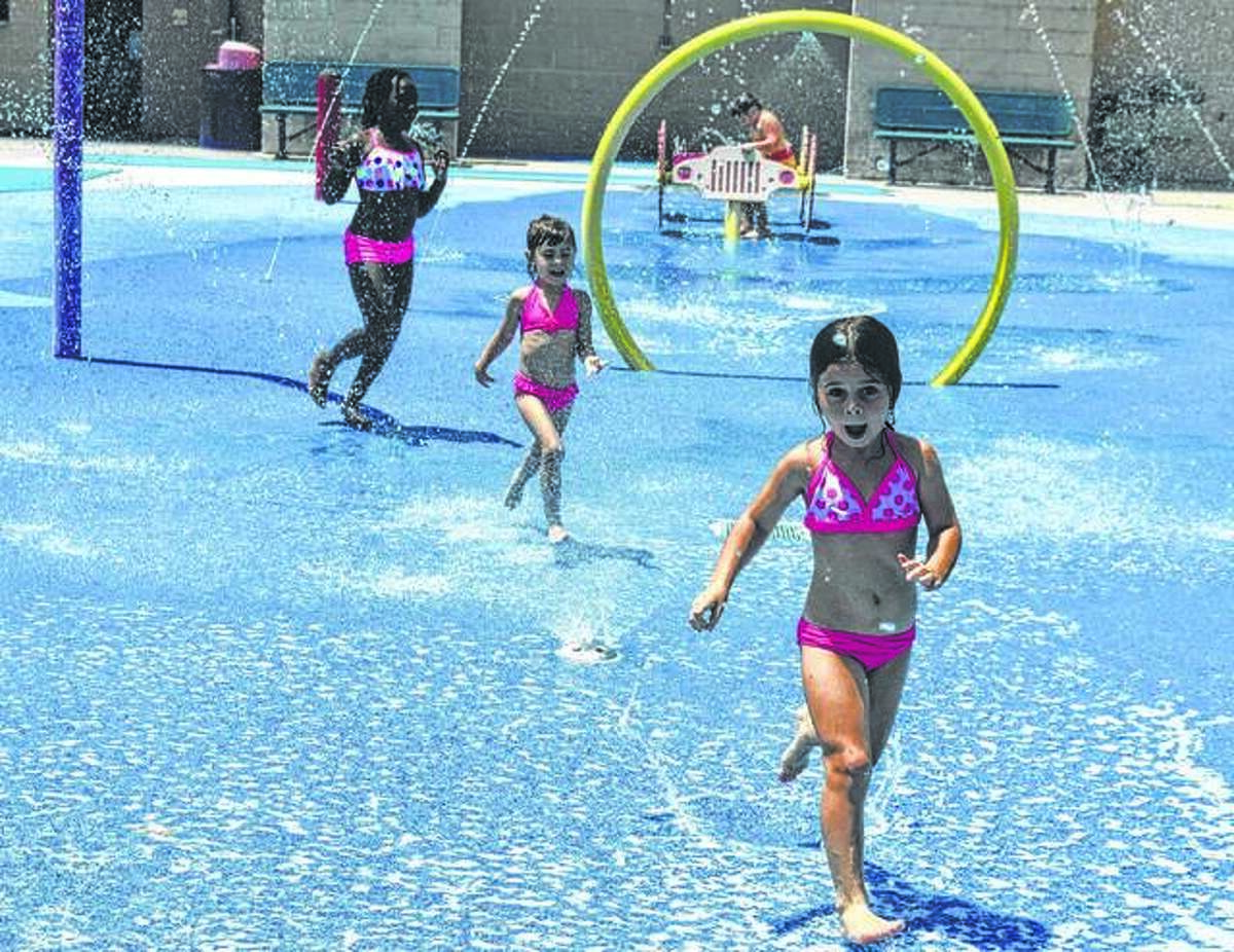 The Splash Pad at Leon Corlew Park