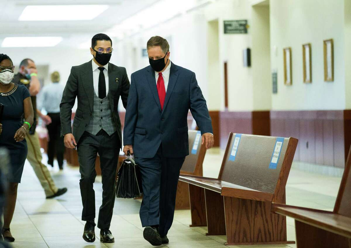 Victor Hugo Cuevas, a 26-year-old linked to a missing tiger named India, arrives at the Fort Bend County Justice Center for a bond revocation hearing on a separate murder charge, on Friday, May 14, 2021, in Richmond.
