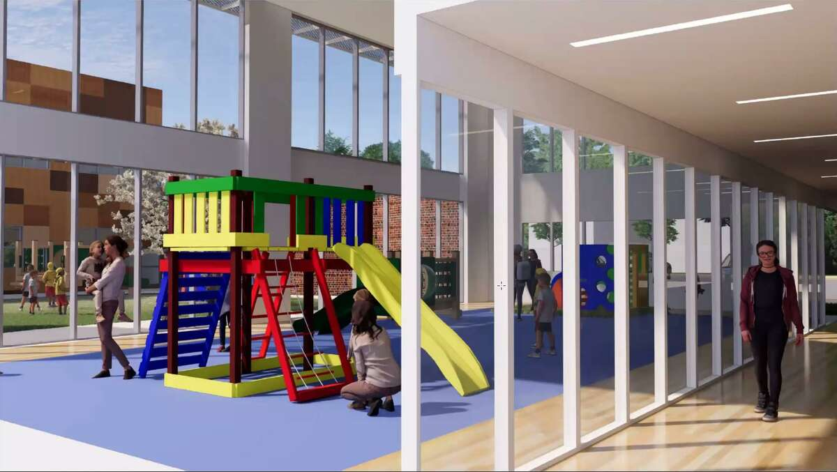 A rendering of the project at 83 Lockwood Ave., which would house a preschool program.