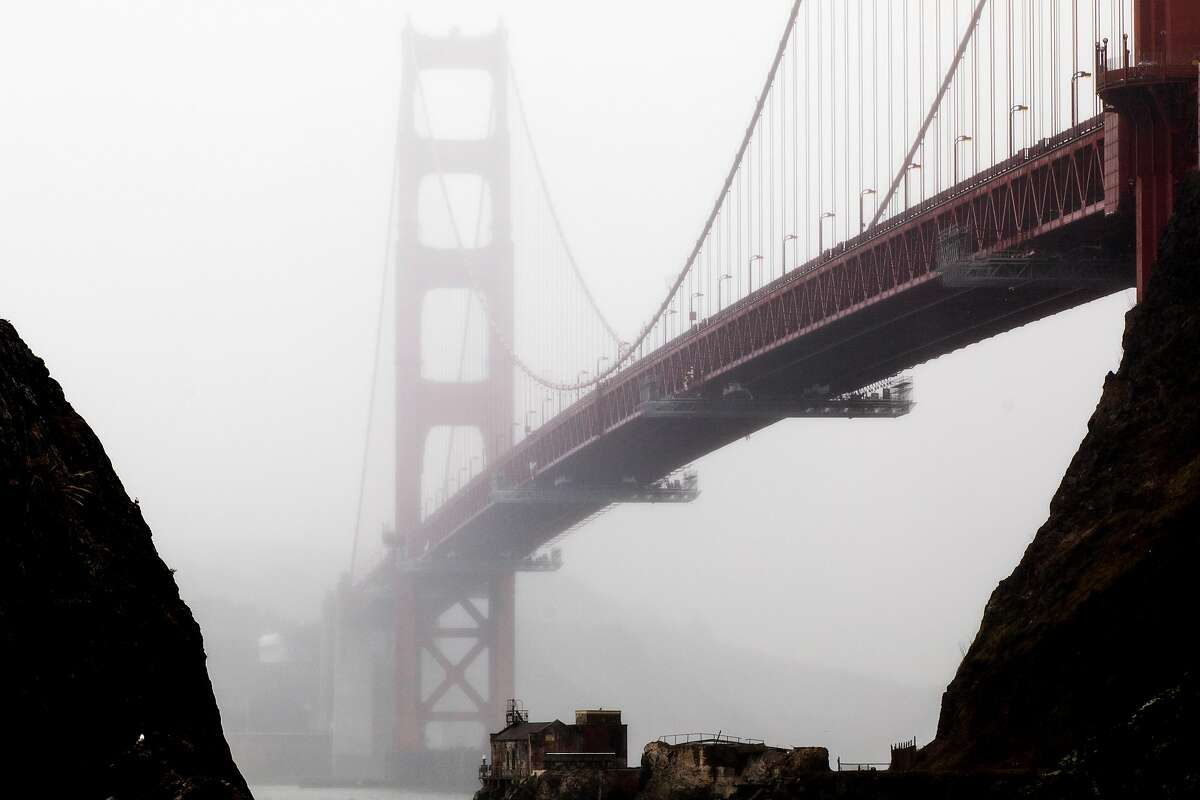 An loud hum emanates from the Golden Gate Bridge on windy days since a sidewalk railing was retrofitted about a year ago.