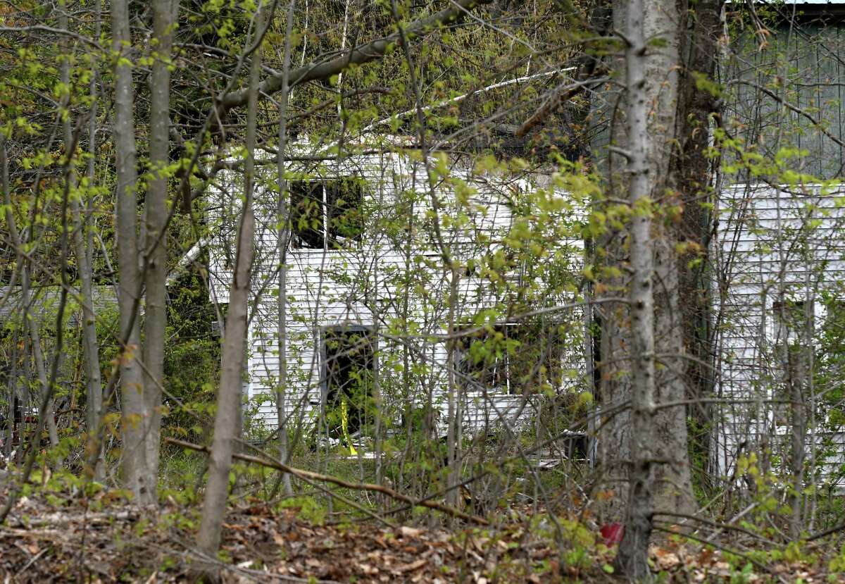 Scene of a fatal fire at 1286 Weast Road on Friday, May 14, 2021, in Princetown, N.Y. A woman was found dead after fire struck the home Thursday. (Will Waldron/Times Union)