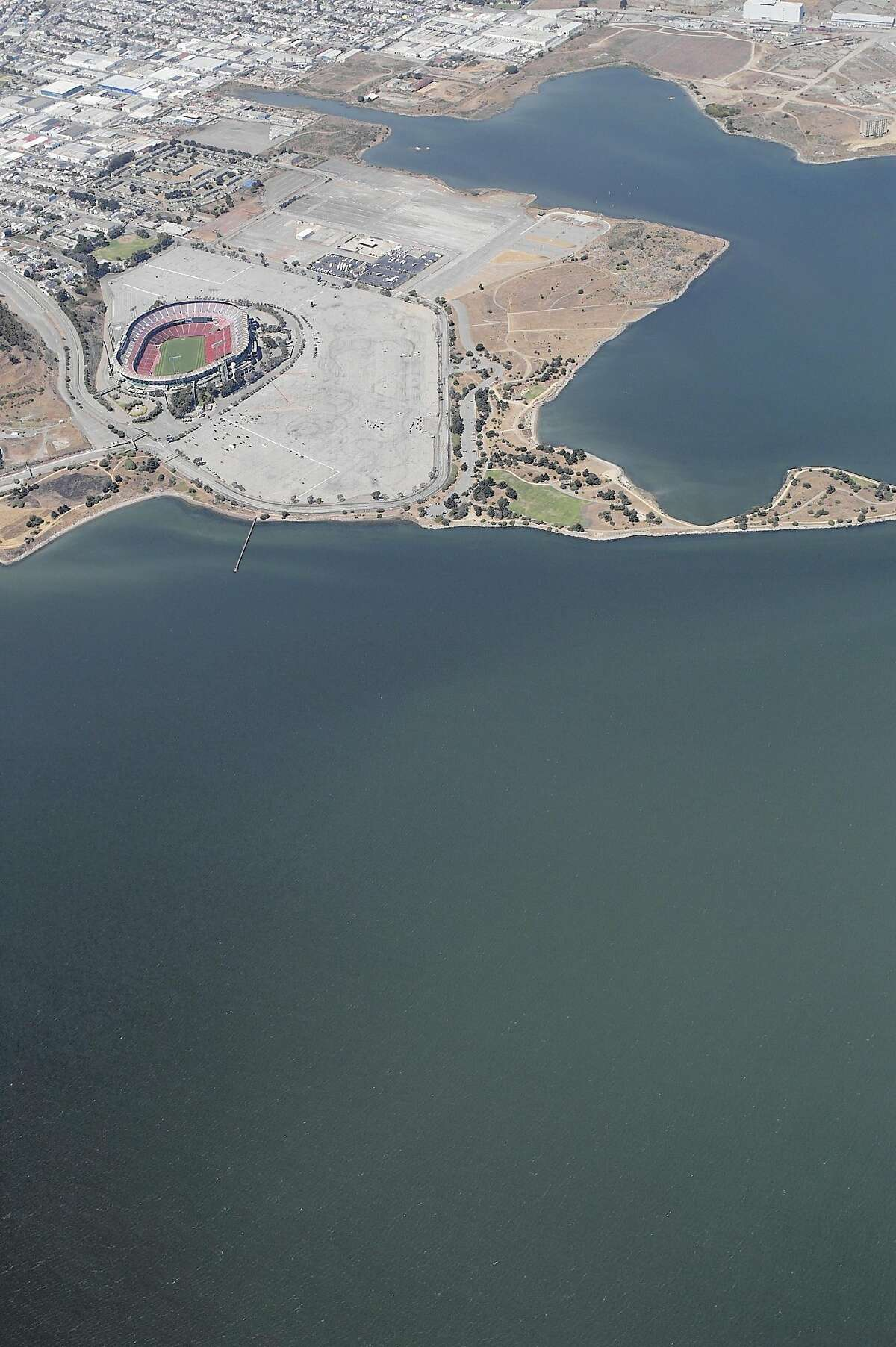 A Realtor is trying to sell a 50,000-square-foot lot near Candlestick Point for $75,000. The only catch? It's literally underwater.