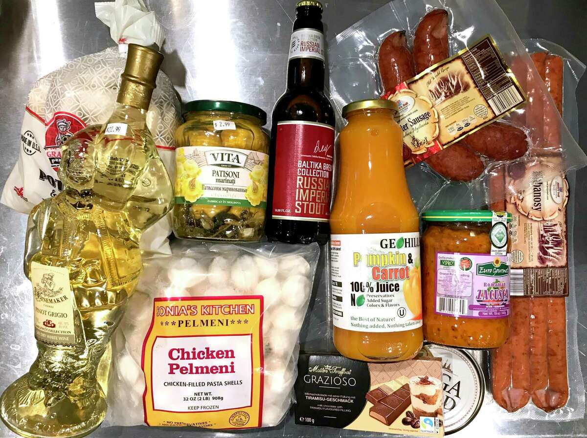Paul Stephen's recent haul from Sasha's European Market included dumplings, sausages, pickles, wine, beer and more from Eastern Europe.