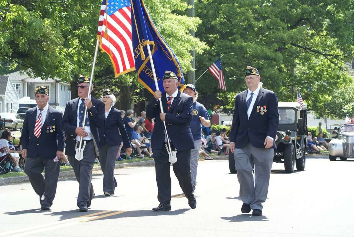 A scene from a previous North Haven Memorial Day Parade.