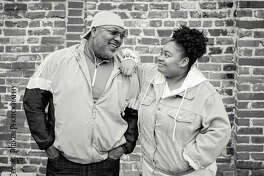 Antione Williams and his daughter, Amiah, are among the Alton residents featured in a new downtown audio tour, Untold Black Stories of Alton. Fifteen portraits appear on the one-mile walkable mile route along Broadway.