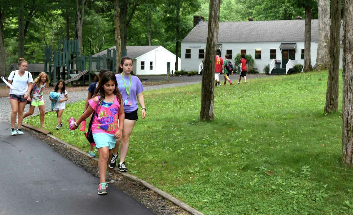(Peter Hvizdak - New Haven Register) Recent renovations of Camp Laurelwood summer camp in Madison, Connecticut include new vinyl siding and roofs on camp buildings. The camp is operated by the Greater New Haven Jewish Community Center. Wednesday July 15, 2015.