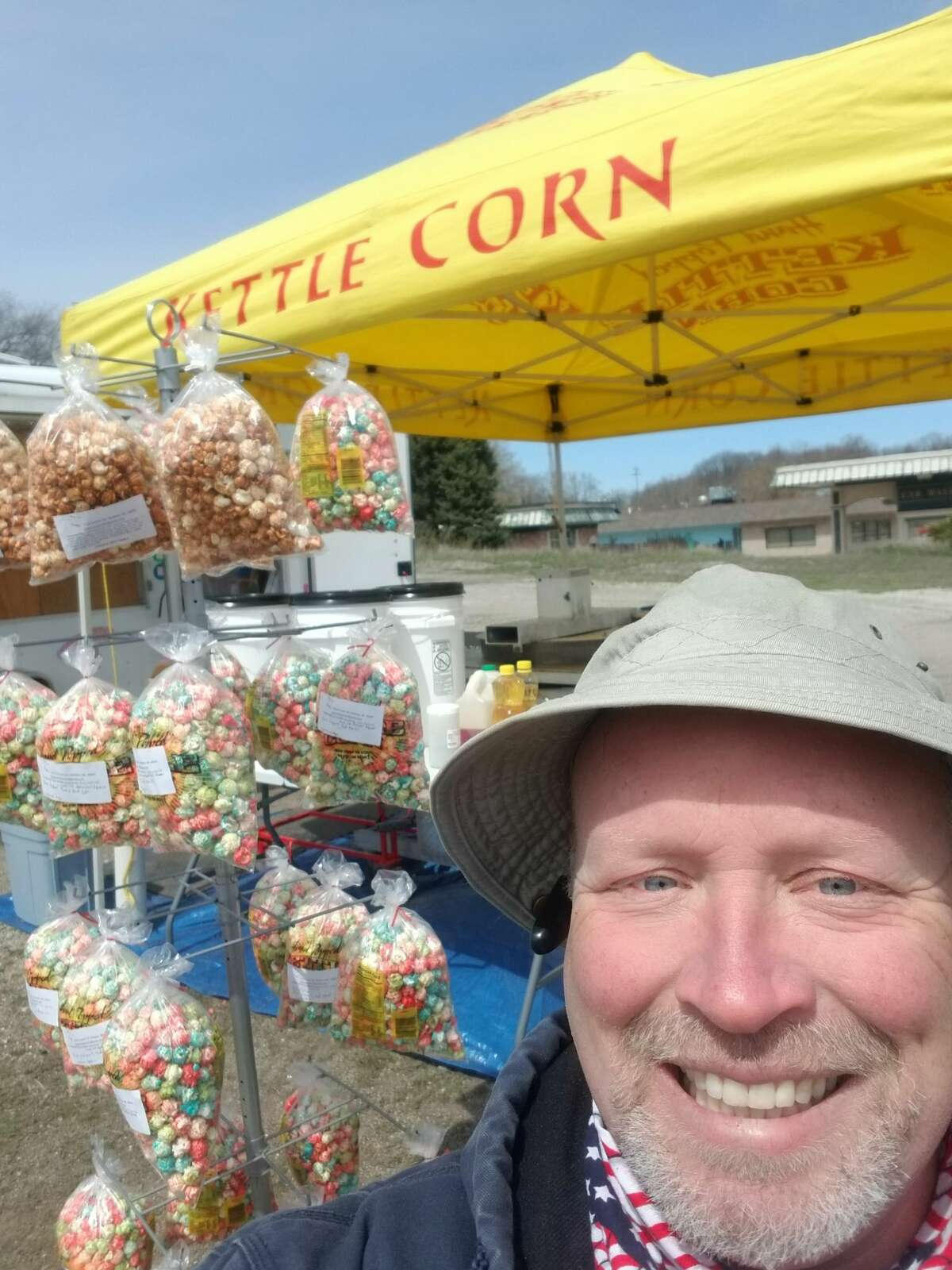 Chris Bush, owner of the Popcorn Goblin kettle corn wagon, said he tries to incorporate as many local ingredients as possible with sourcing of spice blends from Manistee and certain corn grown in Midland. (Courtesy photo)