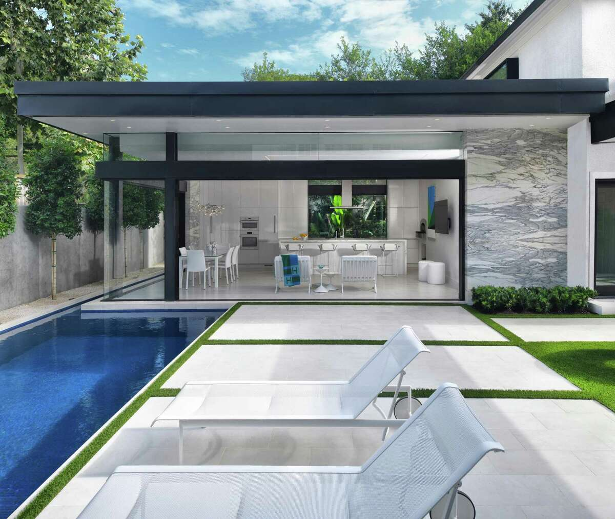 This River Oaks home by Gary R. Chandler Architecture will be on the 2021 Houston Modern Home Tour.
