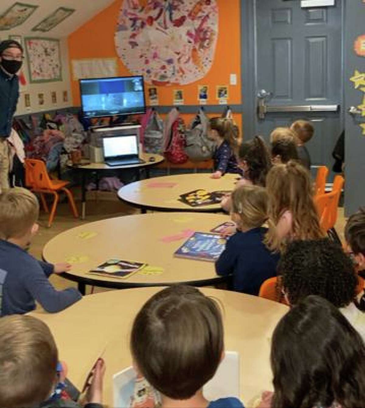 Joe Sauvageau, a system manager at NASA Jet Propulsion Laboratory, recently spoke with a pre-school class at Harbor Light in Fairfield.