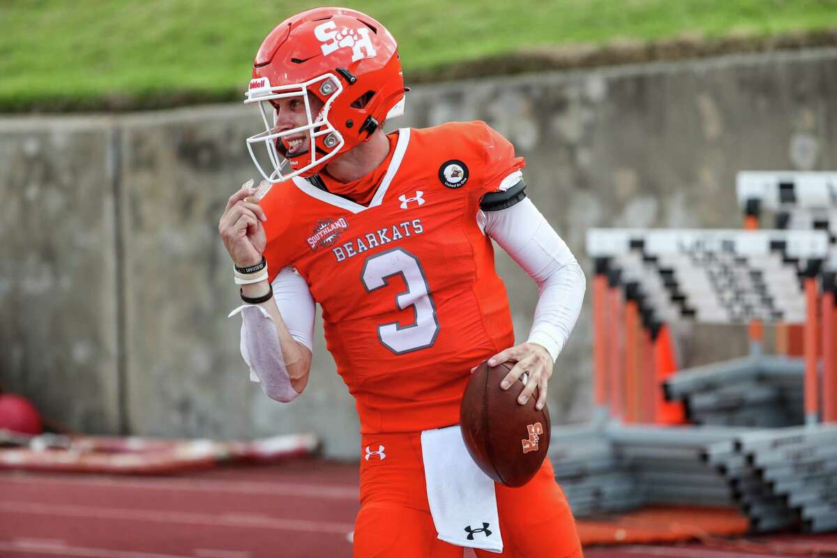 Sam Houston quarterback Eric Schmid had a big game last week in the Bearkats' road victory over Central Arkansas.