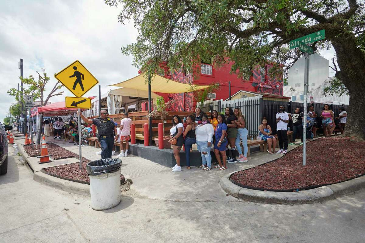 The line outside Turkey Leg Hut in Houston circles the block, and patrons sometimes wait hours.
