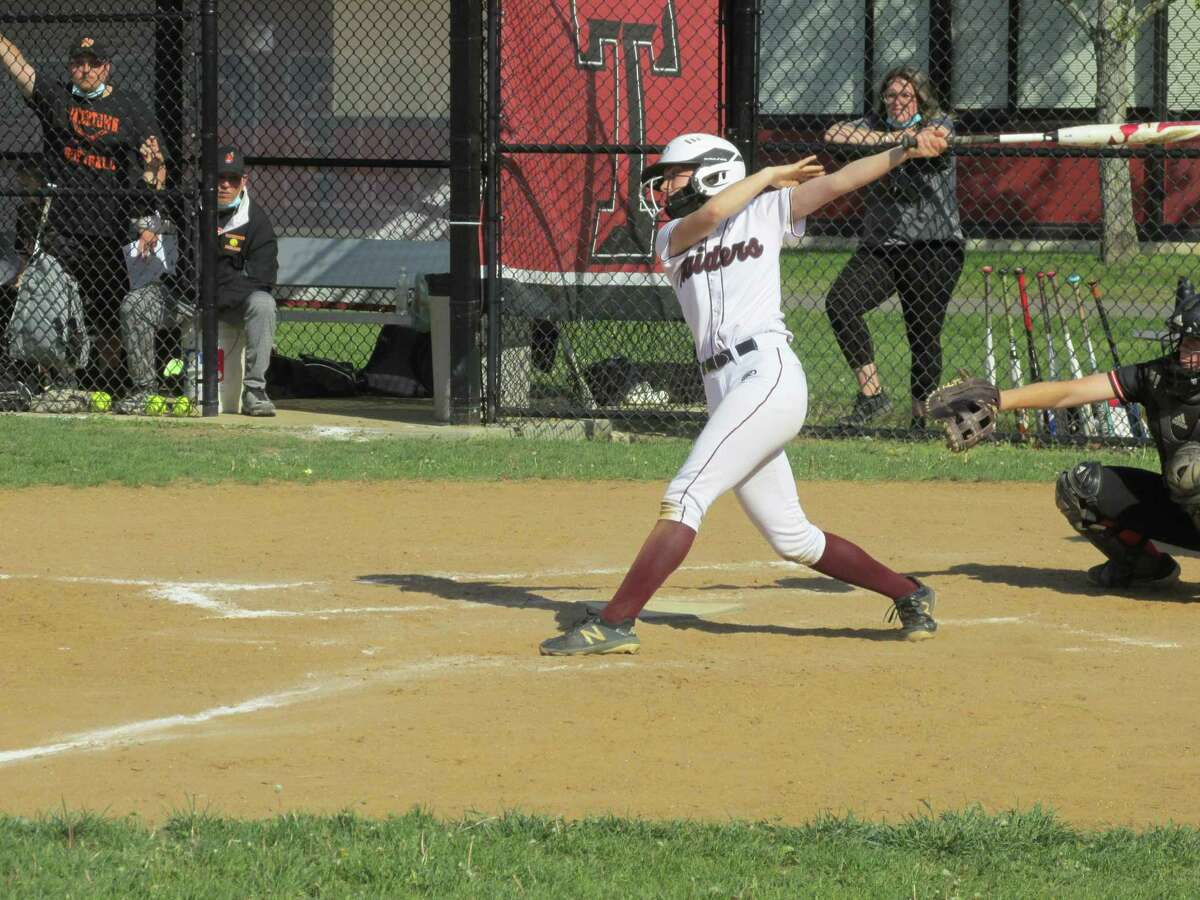 Torrington leadoff hitter Marissa Burger revved up the offense with three hits in a win over Watertown Friday afternoon at Torrington High School.
