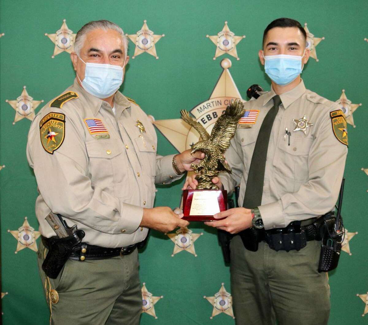 Webb County Sheriff Martin Cuellar recognized Deputy Alejandro Rodriguez as the 2021 Rookie of the Year.