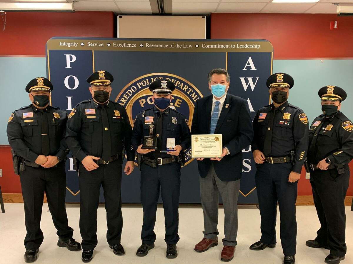 Laredo Police Officer Daniel Galvan was honored as the 2021 Officer of the Year.
