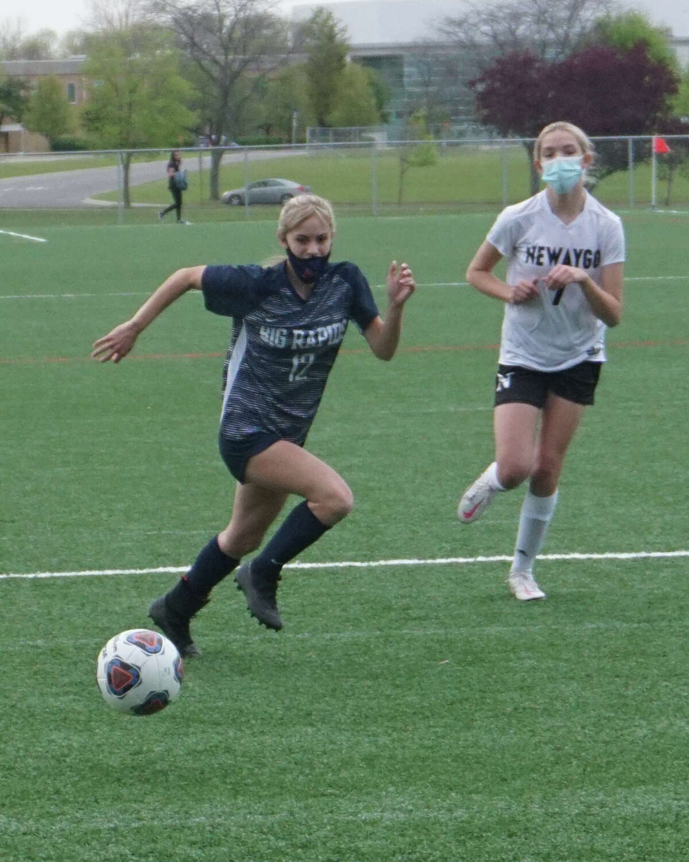 On Friday evening, the Big Rapids girls soccer team defeated Newaygo 3-0.