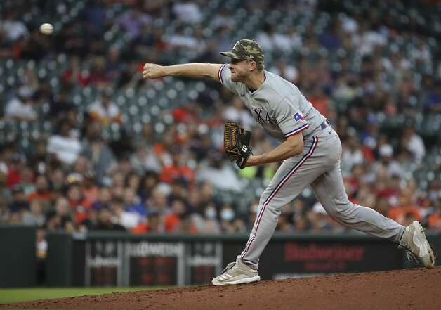 Action during the second inning of an MLB game Friday, May 14, 2021, at Minute Maid Park in Houston. Photo: Jon Shapley/Staff Photographer / © 2021 Houston Chronicle