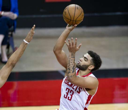 Houston Rockets forward Anthony Lamb (33) shoots during the third quarter of an NBA game between the Houston Rockets and the LA Clippers on Friday, May 14, 2021, at Toyota Center in Houston. Photo: Mark Mulligan/Staff Photographer / © 2021 Mark Mulligan / Houston Chronicle