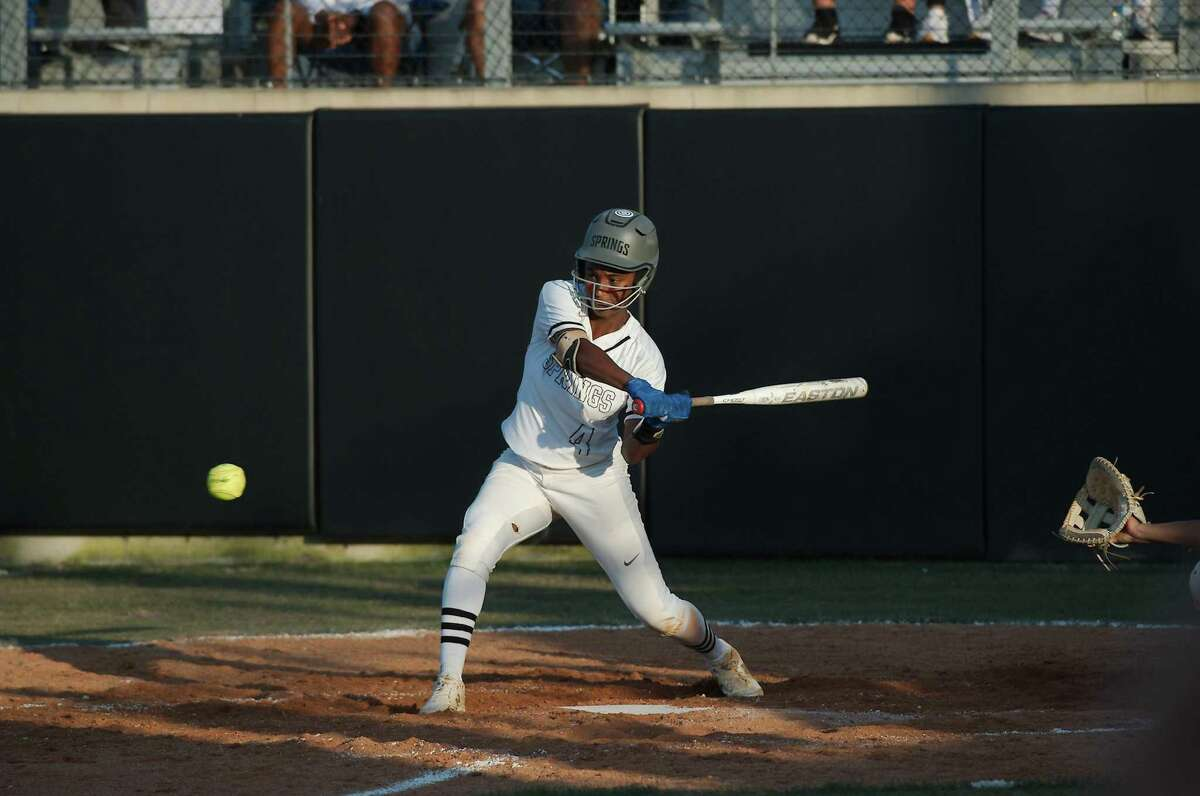 Clear Springs' Emma King ripped a two-run triple to send the Lady Chargers past Katy Friday and into the regional softball championship against Deer Park.