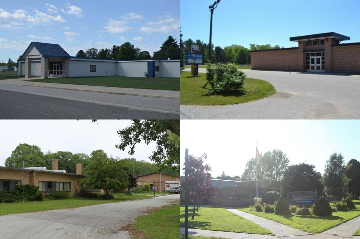 As the Manistee area changed, the county's student count of 5,596 fell to 3,559 by 2011 and today is in the mid 2,000 range. This caused some school districts to close school buildings over the years, including Kaleva Elementary (top left) and Wellston Elementary (top right) and the former Kennedy Elementary (bottom left). Jefferson Elementary will soon follow suit after recent approval of a bond for Manistee Area Public Schools. (File photos)
