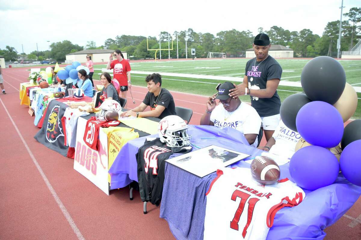 Numerous students out of the northwest Houston area signed their National Letter of Intent during the final signing day of the 2020-21 school year. Tomball High had eight athletes sign to play athletics at the collegiate level.