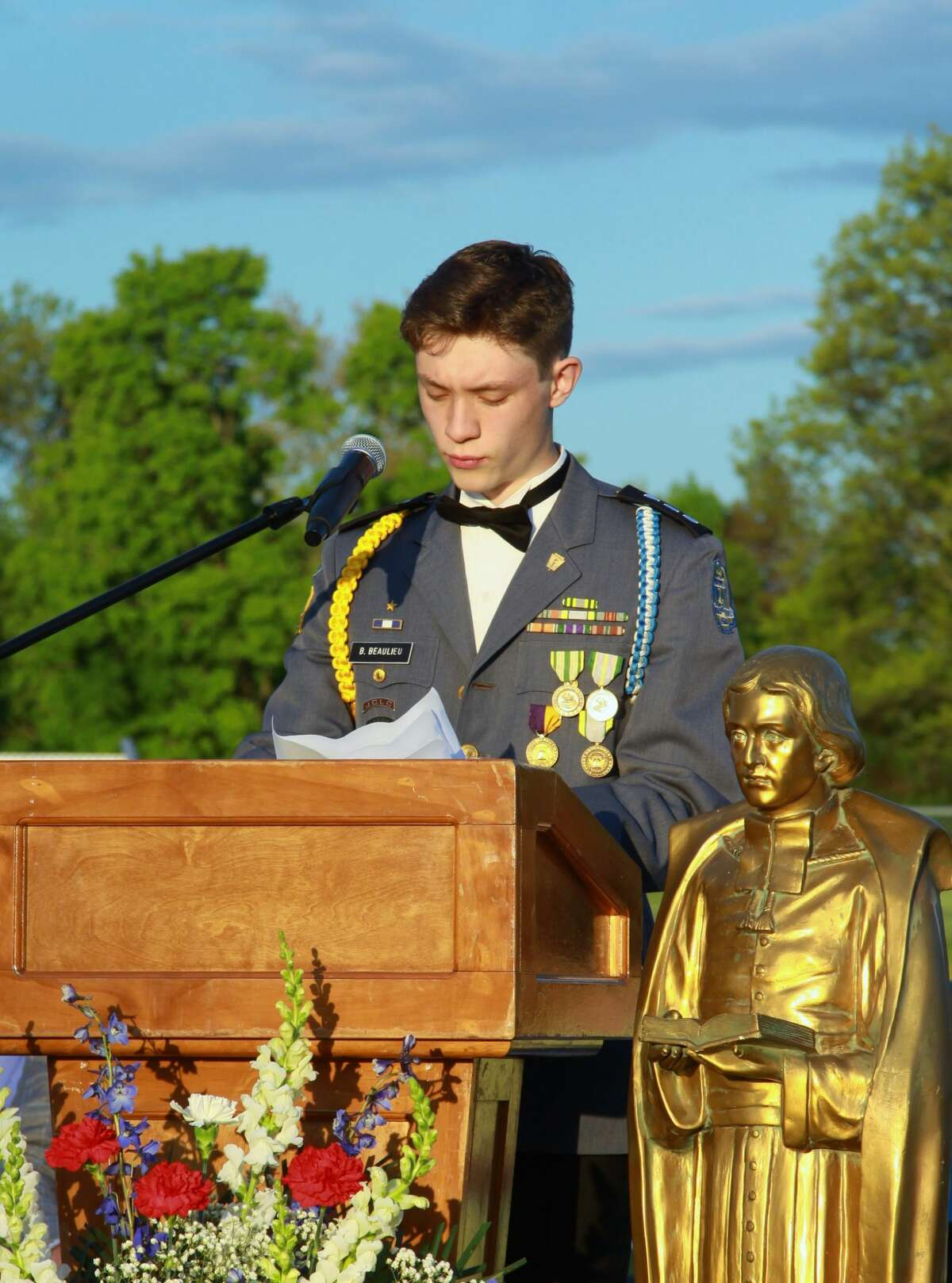 The La Salle Institute valedictory address is given by Bennett F. Beaulieu on May 14, 2021.