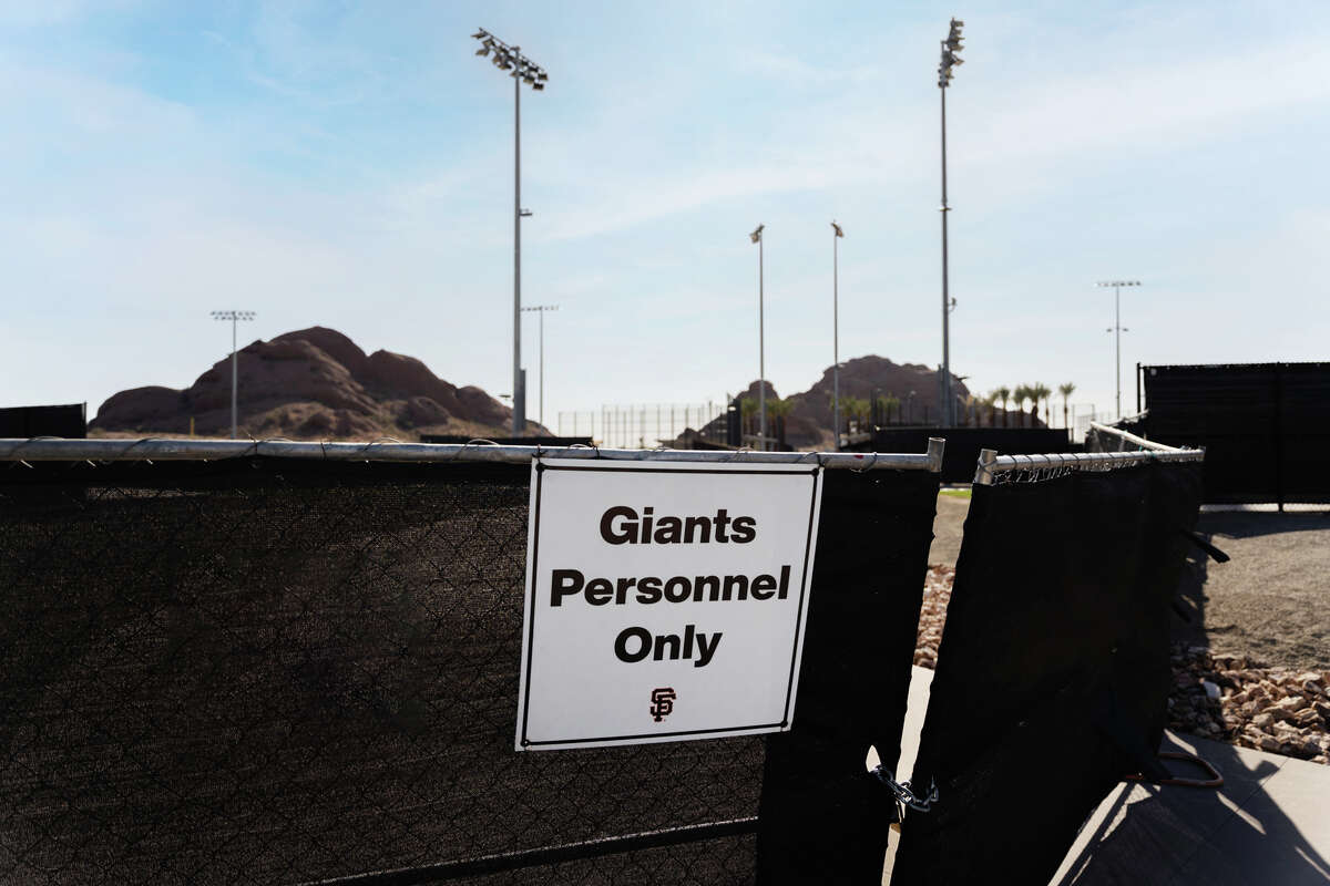A sign outside the Papago Sports Complex, which the San Francisco Giants are reconstructing.