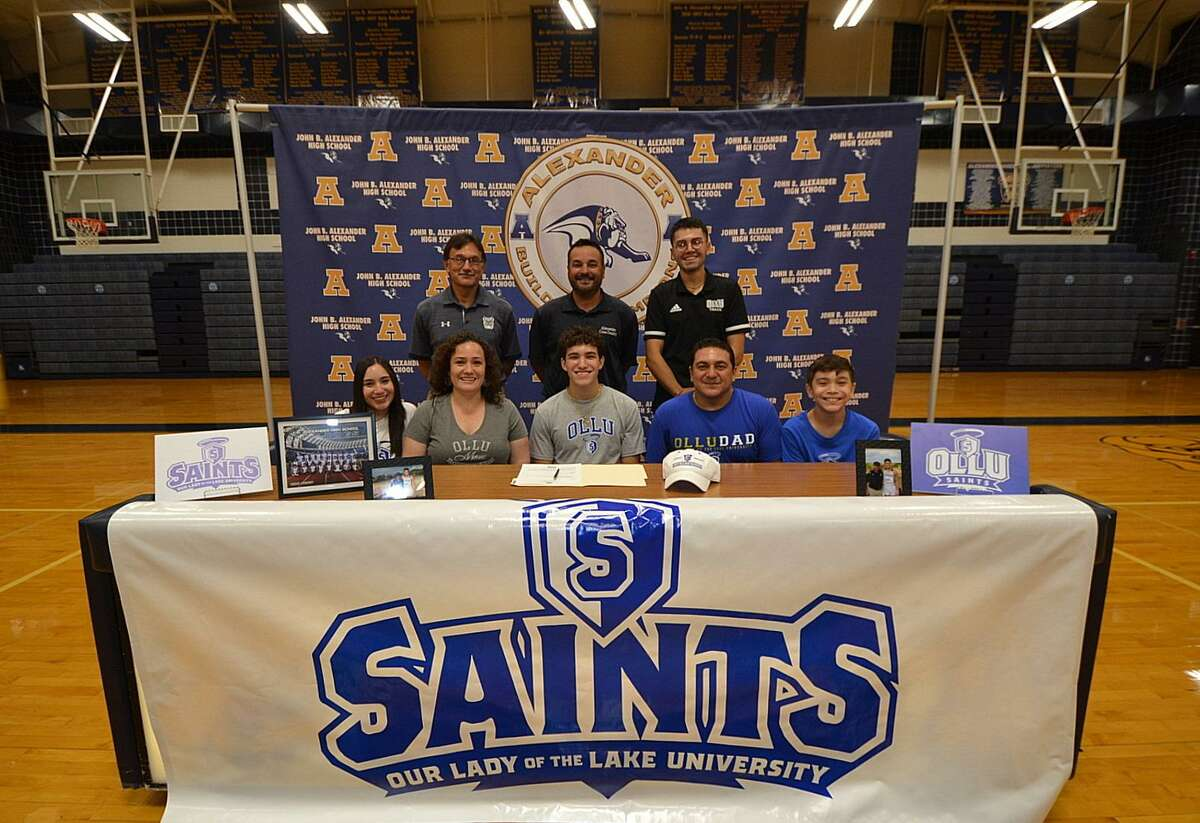 Alexander's Joseph Gonzalez signed with Our Lady of the Lake University to continue his running career.