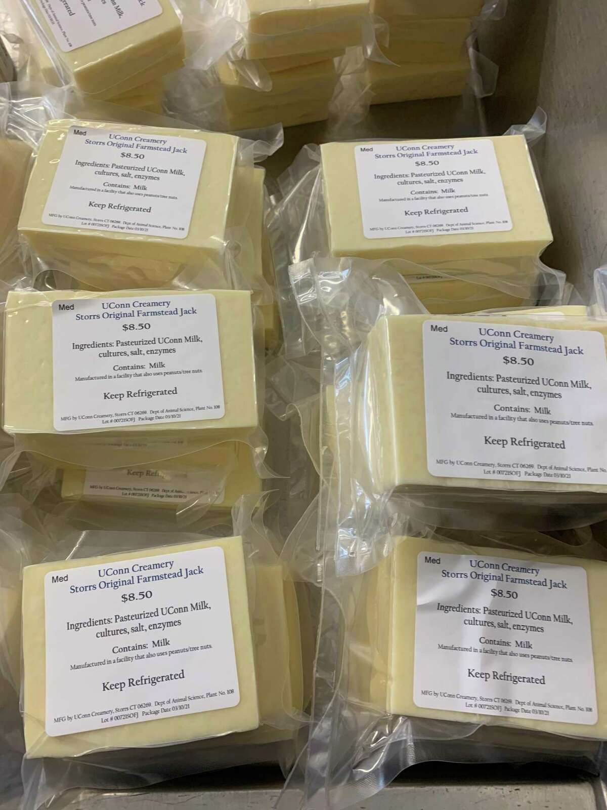 Cheese made at the UConn creamery and sold at the iconic university Dairy Bar.