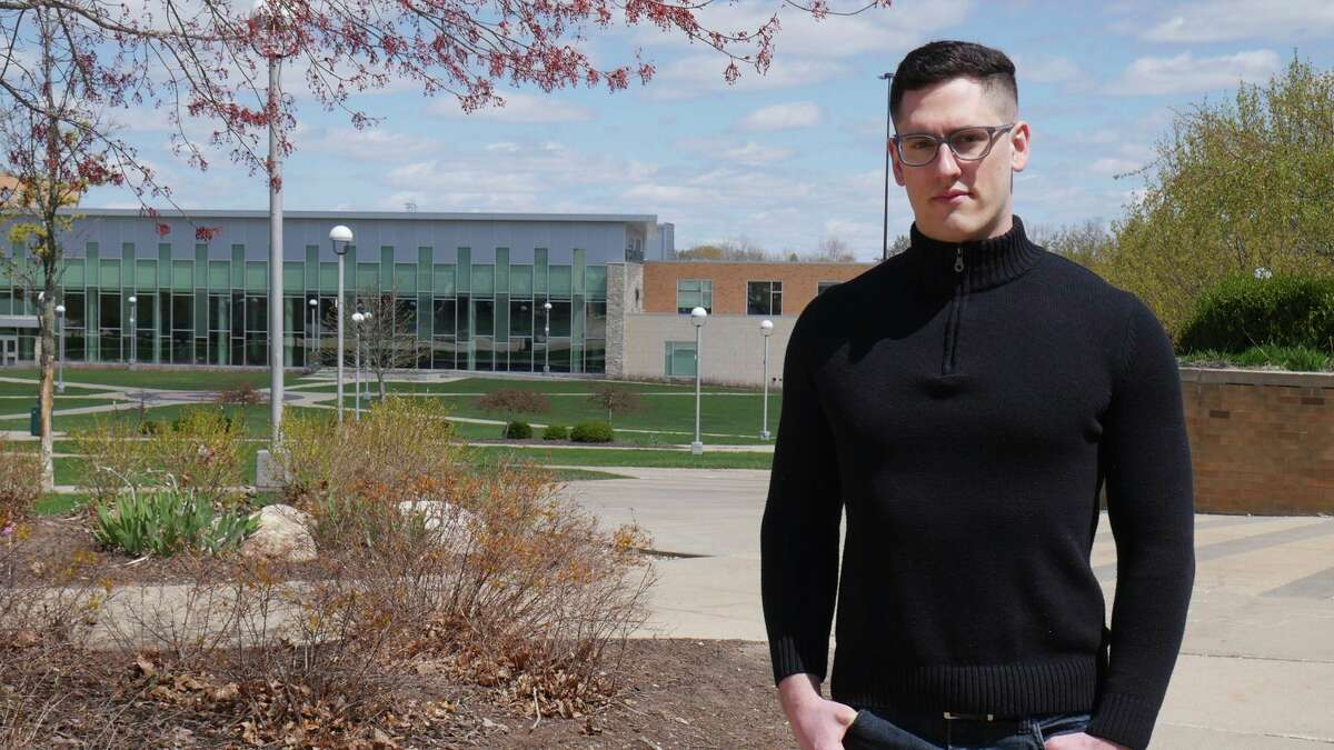 Austin Moody, of Sebewaing, is a cum laude graduate of Ferris State University's Information Security and Intelligence Master of Science program. He will continue with the United States Department of Defense, serving in a top-secret assignment. (Courtesy Photo)