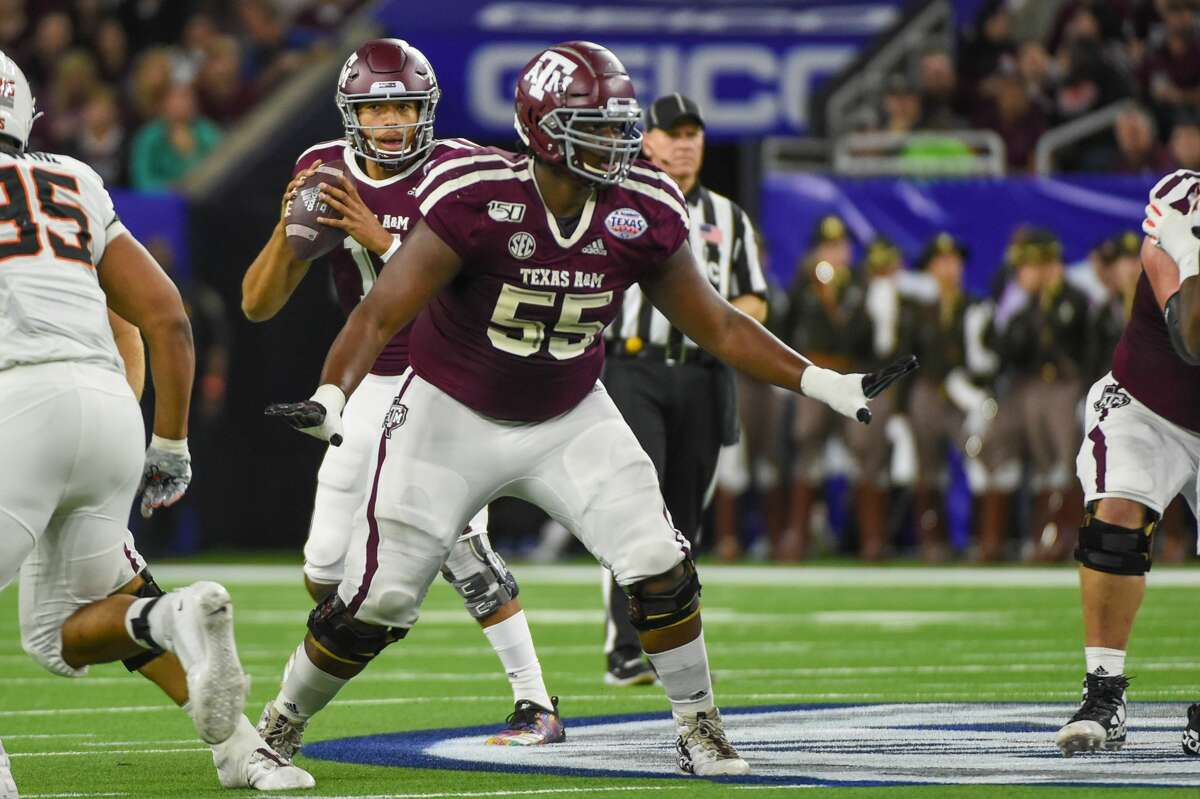 All-American left tackle Kenyon Green is the lone returning starting lineman for the Aggies.