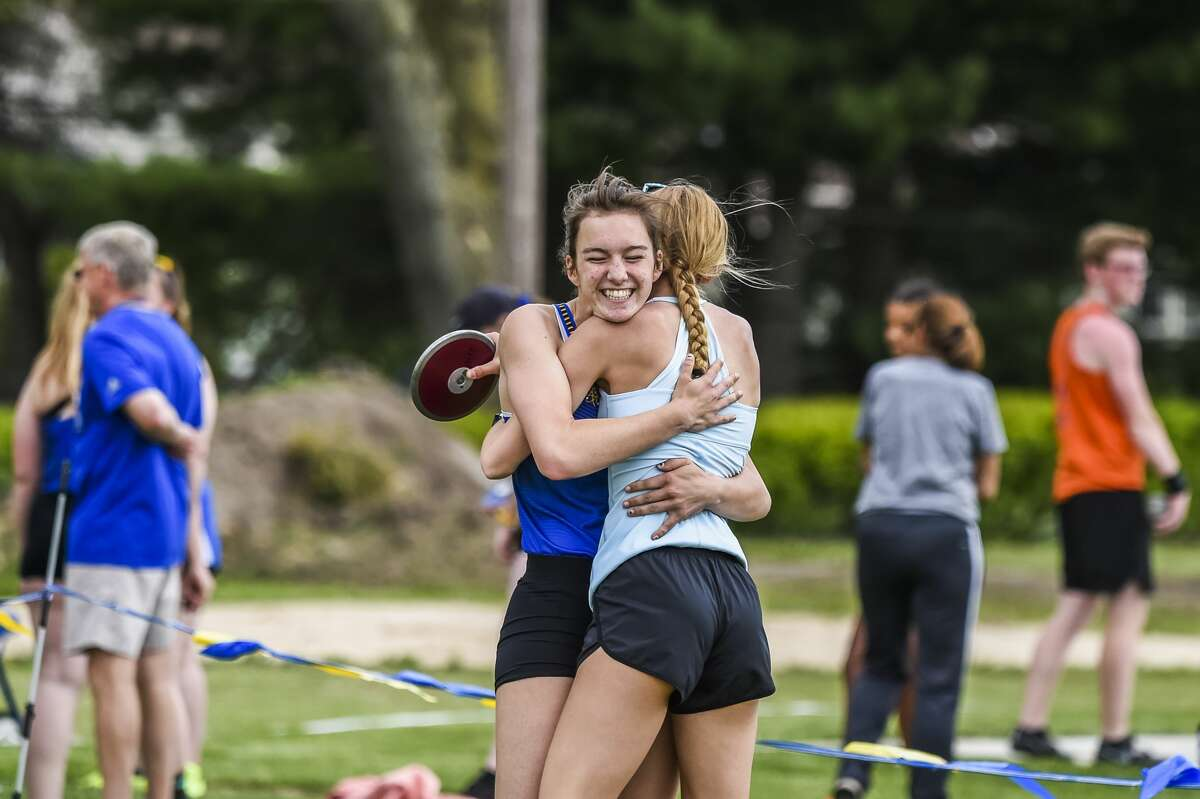 Olivia McMath celebrates while competing in the first annual