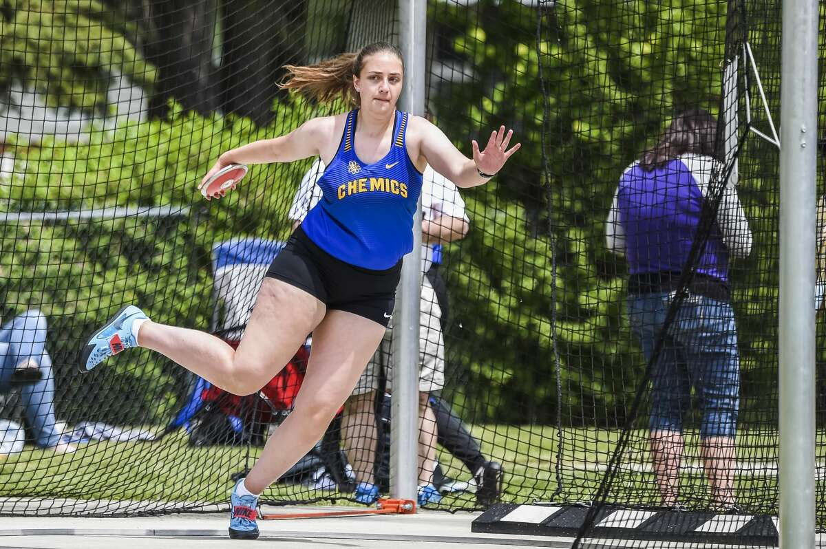 Midland's Alexa Swanson competes in the first annual