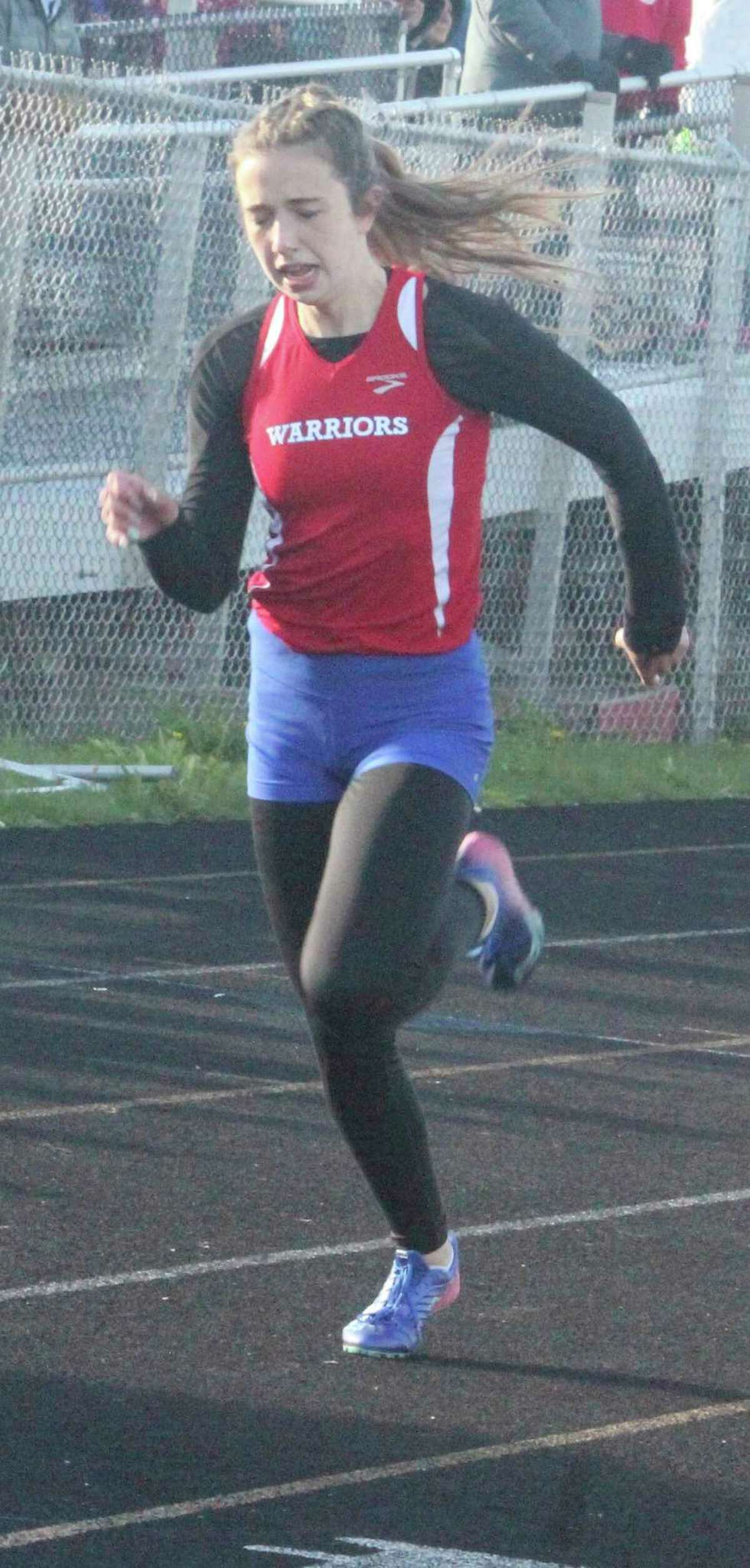 Chippewa Hills' Emily Fredrick has been among the area's top sprinters. (Pioneer