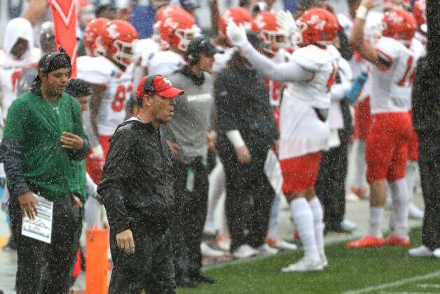 Sam Houston State head coach K.C. Keeler looks on from the sidelines during the first quarter of the NCAA FCS national football championship game on Sunday, May 16, 2021, in Frisco. Photo: Brett Coomer/Staff Photographer / © 2021 Houston Chronicle