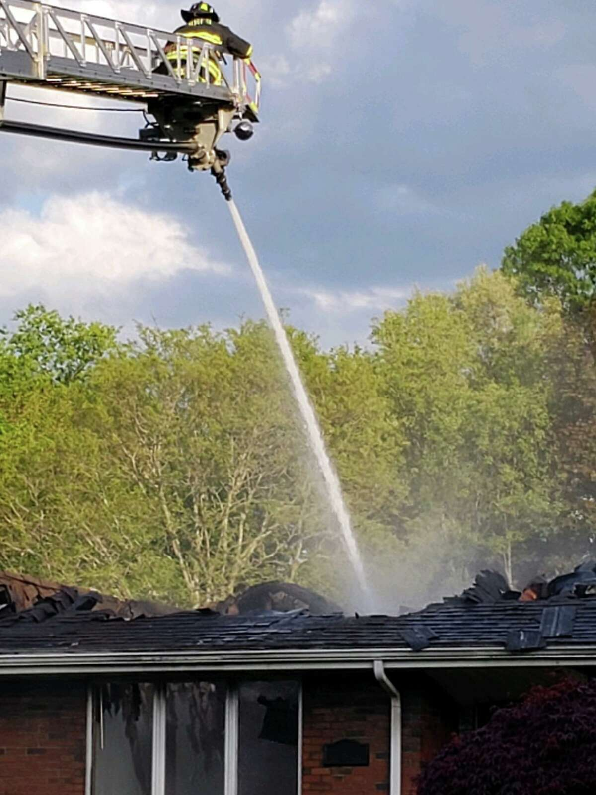 Crews battled a fire on Fieldstone Drive in Rocky Hill on Saturday, May 15, 2021.
