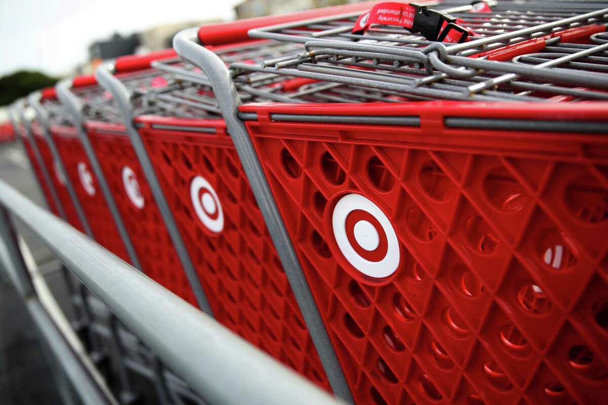 SAN FRANCISCO, CALIFORNIA - JANUARY 15: The Target logo is displayed on shopping carts outside of a Target store on January 15, 2020 in San Francisco, California. Shares of big box retailer Target fell after the company reported that same-store sales during November and December inched up only 1.4%, compared to a more robust growth of 5.7% one year ago. (Photo by Justin Sullivan/Getty Images)