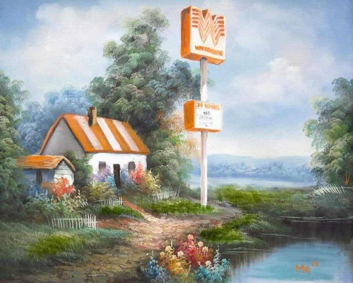 Michael Esparza's Whataburger painting has gone viral again.
