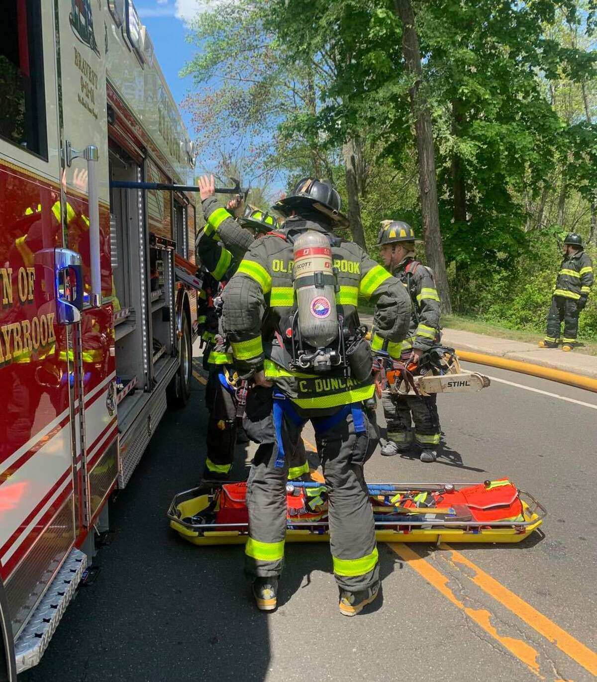 Old Saybrook Fire Department responded to a fire at an East Lyme business on Saturday, May 15.