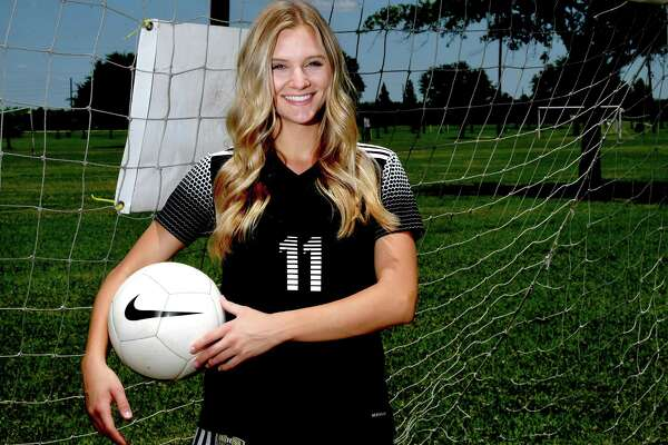 Vidor's Brooklyn Healy is the girl's soccer Super Gold Player of the Year. Photo made Friday, May 14, 2021 Kim Brent/The Enterprise
