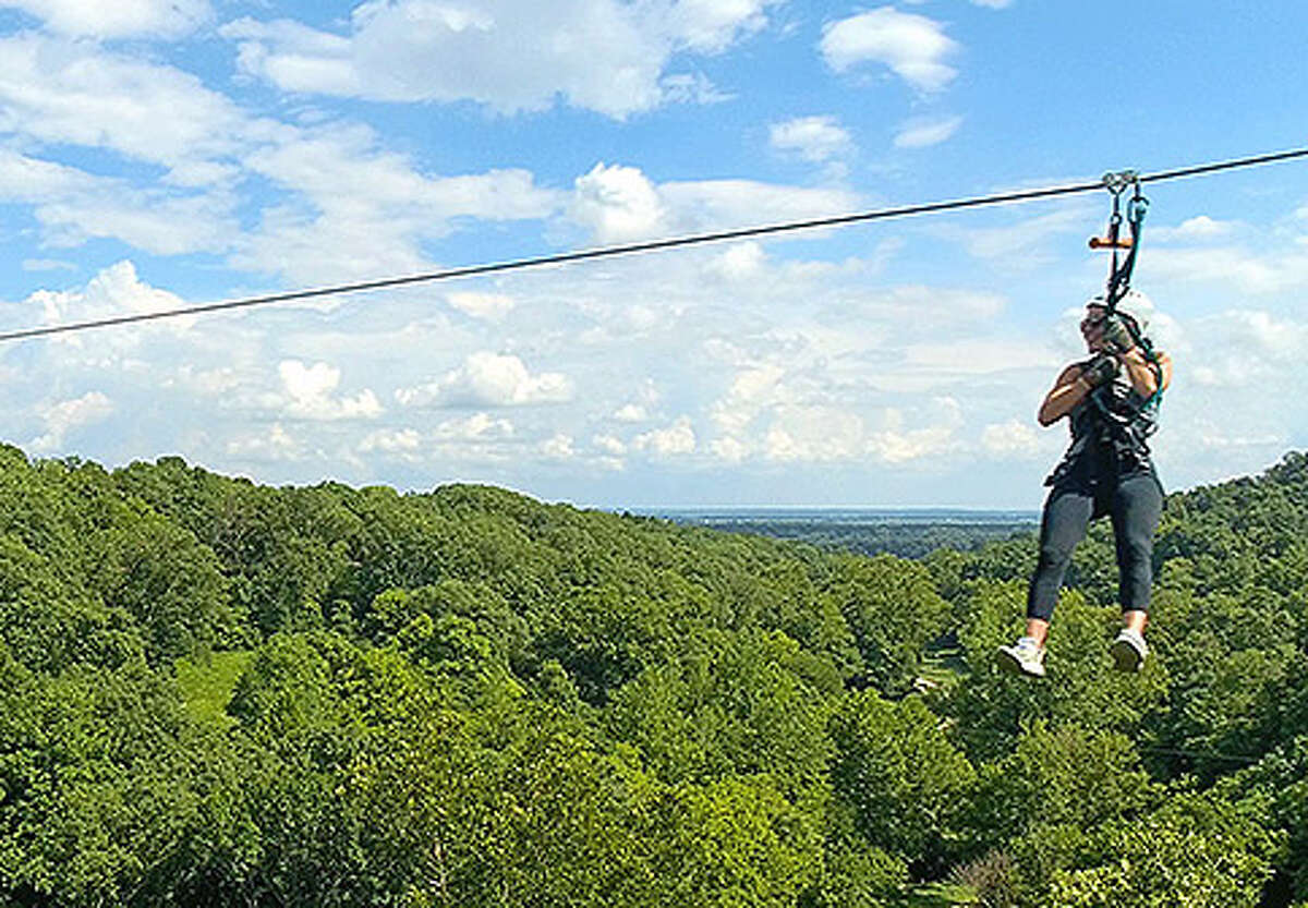 The Grafton Zipline at the Aerie's Resort in Jersey County is one of the attractions highlighted in a new multi-state tourism campaign launched Monday.