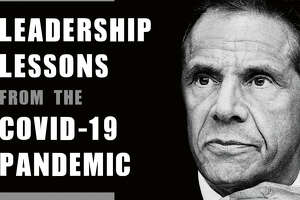 """This cover image released by Crown shows """"American Crisis: Leadership Lessons From the Covid-19 Pandemic"""" by Andrew Cuomo. The New York governor has gained a national following through his management of the coronavirus pandemic. Now he's writing a book that looks back on his experiences. It includes leadership advice and a close look at his relationship with the administration of President Donald Trump. (Crown via AP)"""