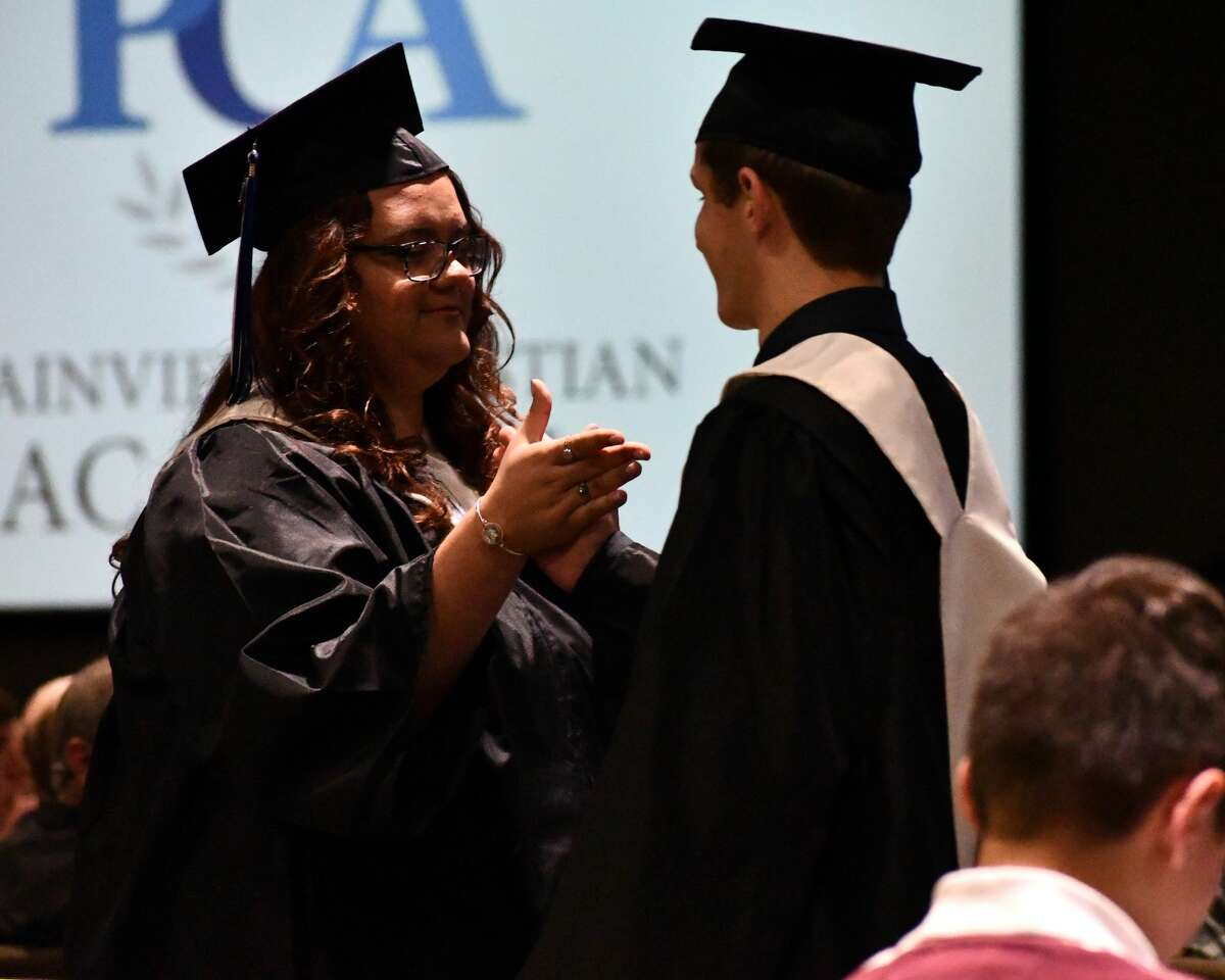 Eight students graduated from Plainview Christian Academy during a ceremony on Saturday at Harvest Christian Fellowship. Rep. Jodey Arrington delivered the keynote address.