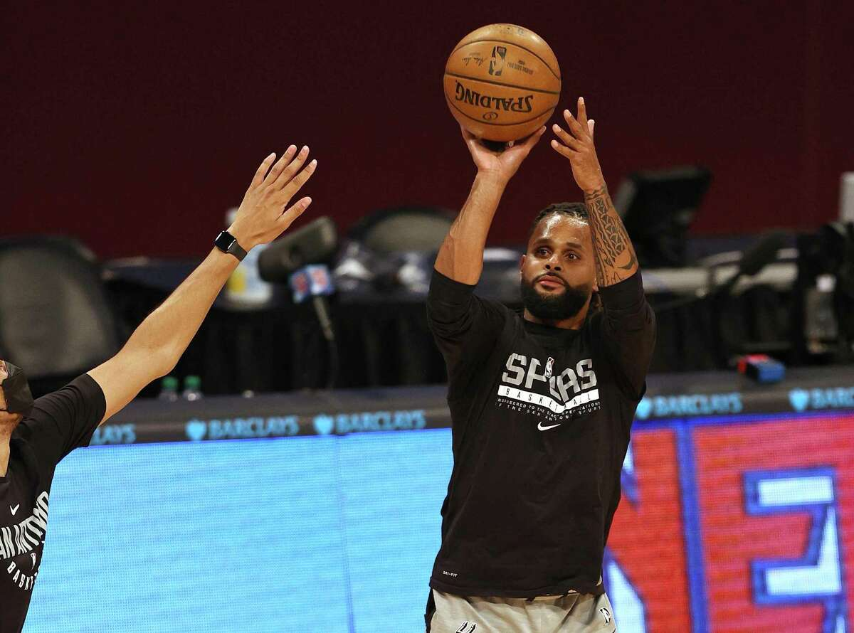 """Patty Mills is confident a """"back-to-basics"""" approach can help the Spurs escape their 3-point shooting slump in Wednesday's NBA play-in tournament game against Memphis."""